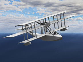 "Levy-Besson ""Alerte"" Flying Boat in White Strong & Flexible: 1:144"