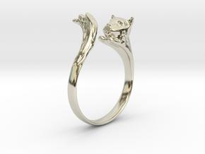 Silvercat Ring in 14k White Gold: 8.5 / 58
