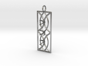 Sconce Pendant With Prongs for faceted stones in Natural Silver
