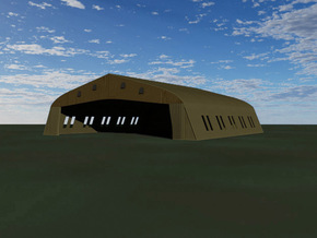 Bessonneau Hangar, 6-Bay in White Strong & Flexible: 1:144
