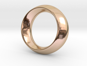 Opus Ring - Bracelet P=180mm in 14k Rose Gold Plated Brass
