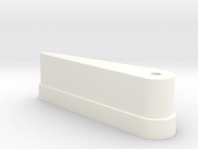 CSF#3 - 3 Inch Bat - Pinball Flipper Bat in White Processed Versatile Plastic
