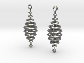 Ring-Stack Earrings in Natural Silver