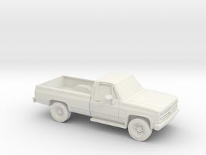 1/87 1982 Chevrolet C/K Silverado Reg. Cab in White Natural Versatile Plastic