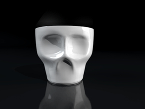 Skull Espresso Cup in Gloss White Porcelain