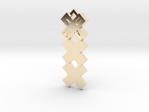 XXX Amsterdam Pendant kettinghanger Medium in 14k Gold Plated Brass: Medium