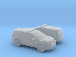 1/200 2X 2011 Ford Explorer Police Interceptor in Smooth Fine Detail Plastic