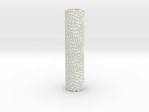 Reaction Diffusion Vase in White Natural Versatile Plastic