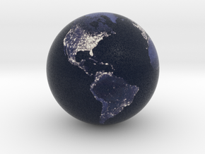 Earth at Night (1:80 Million scale) in Full Color Sandstone