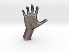 1/10 Hand 015 in Polished Bronzed Silver Steel