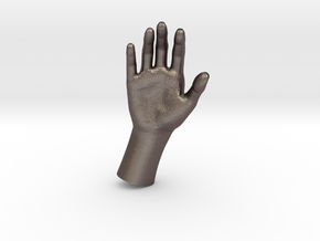 1/10 Hand 019 in Polished Bronzed Silver Steel