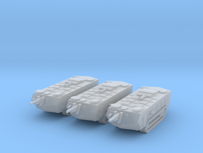 6mm WW1 Saint Chamond tank - early x3 in Frosted Extreme Detail