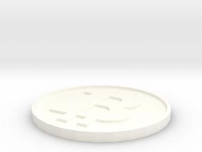 Fake Bitcoin Piece in White Processed Versatile Plastic