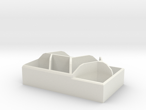 Geometric Desk Organizer in White Natural Versatile Plastic