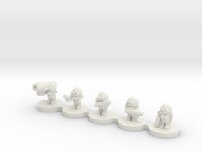 Alien Grunts in White Natural Versatile Plastic