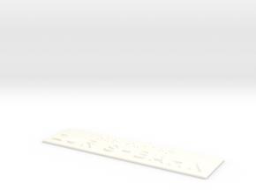ZUR S-BAHN in White Processed Versatile Plastic