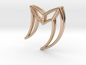 M in 14k Rose Gold Plated Brass