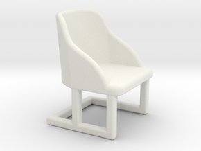 Chair, Art Deco 1:48 in White Natural Versatile Plastic