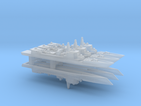 Type 052C Destroyer x 6, 1/6000 in Smooth Fine Detail Plastic