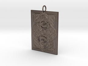 Watchers Pendant in Polished Bronzed Silver Steel