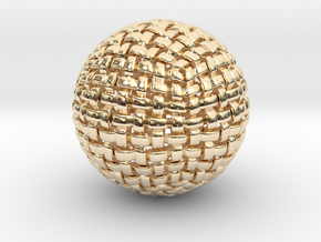 Knitted Sphere in 14K Yellow Gold