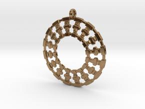 Treyu Pendant in Natural Brass