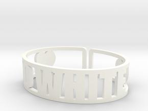 Go White Cuff in White Processed Versatile Plastic