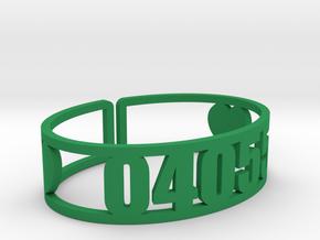 Mataponi Zip Cuff in Green Processed Versatile Plastic