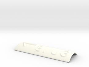 3.UG mit Pfeil nach links in White Processed Versatile Plastic