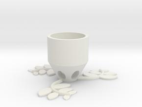 Small Plant Pot (medium) in White Natural Versatile Plastic