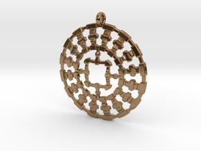 Treyu C2S Pendant in Natural Brass
