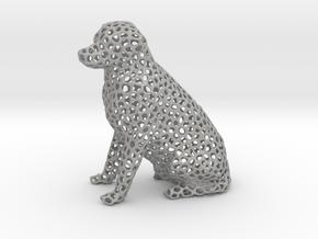 Voronoi Labrador Retriever Dog (Big) in Aluminum