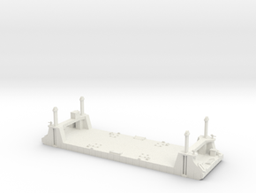 1/300 1 Off Mulberry Spud Pontoon in White Strong & Flexible