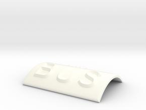 BUS in White Processed Versatile Plastic