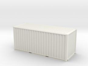 20' ISO Container (1:64) in White Natural Versatile Plastic