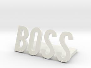 boss logo1 desk bussiness in White Natural Versatile Plastic