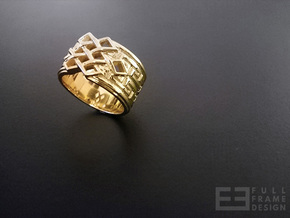 Endless Knot Ring (Multiple Sizes) in 18k Gold Plated Brass