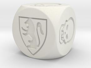 HeroQuest Die (16mm) in White Natural Versatile Plastic