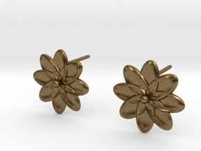 Flora Earrings in Natural Bronze