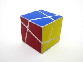 Polyaxis Cube 2x2x2 (DIY) in White Processed Versatile Plastic