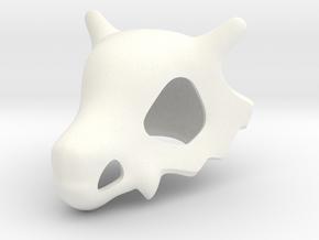 Pokémon Cubone Skull in White Strong & Flexible Polished