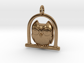 Owl Pendant in Raw Brass