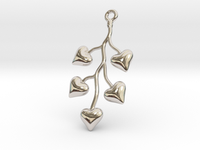 Cluster Of Hearts in Rhodium Plated Brass