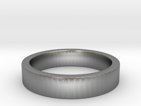 Basic Ring US11 in Natural Silver