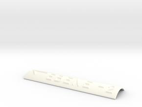 EBENE -2 mit Pfeil nach links in White Processed Versatile Plastic