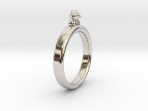 0.736 inch/18.69 mm Cat Ring in Platinum