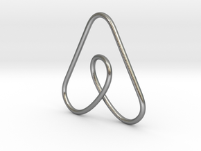 Airbnb Keychain in Natural Silver