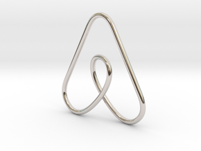 Airbnb Keychain in Rhodium Plated Brass