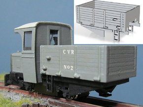 Wagon Body (Part W-1) in White Natural Versatile Plastic