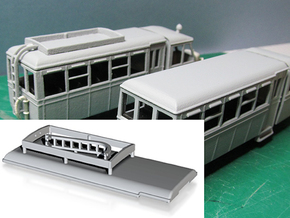 Railcar Roof A or B (Part R1) in White Processed Versatile Plastic